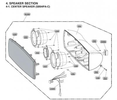 EAB60771251 CENTER SPEAKER
